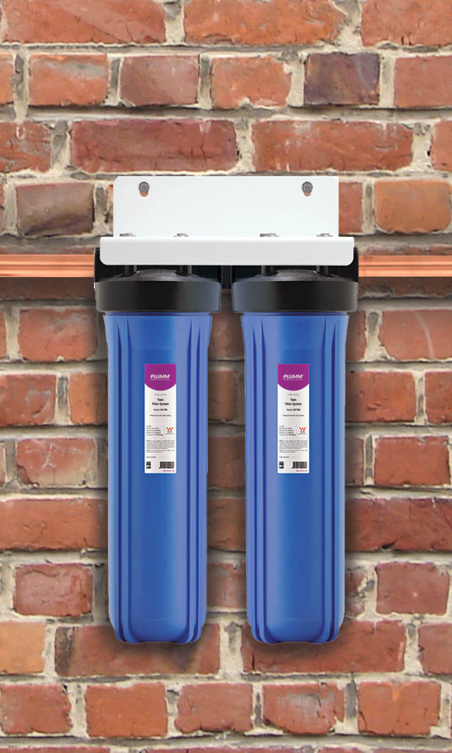 "Complete House WB Twin Filter System (20"") - Mains Water"