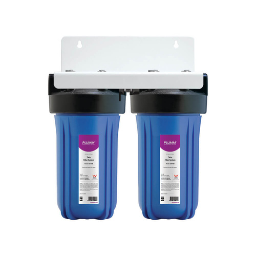 Whole house system, 100Lpm twin (excl. cartridges)